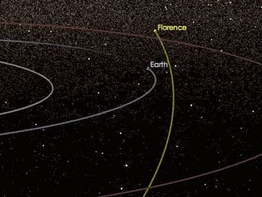 Florence asteroid's trajectory. NASA