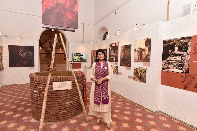 AMRITSAR, INDIA - OCTOBER 24: Lady Kishwar Desai during the Partition Museum inauguration, on October 24, 2016 in Amritsar, India. A newly opened Partition Museum in Amritsar revisits the trauma of displacement, with optimism for a better future. (Photo by Sanjeev Verma/Hindustan Times via Getty Images)