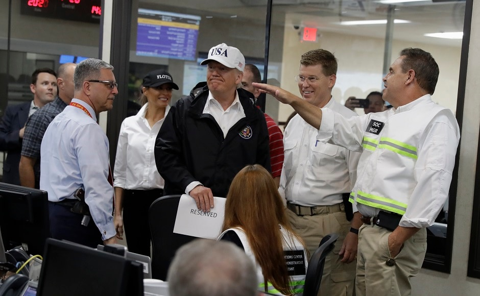 Trump, who attended security briefings on the hurricane with First Lady Melania Trump, said that he wanted the relief effort to stand as an example of how to respond to a storm. AP