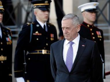 File image of US Secretary of Defence James Matts. Reuters