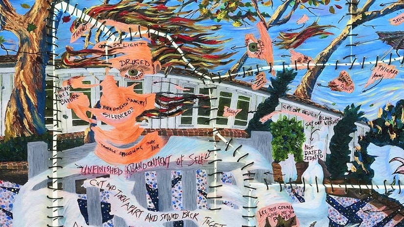 A painting by Jim Carrey. Screen grab from the documentary film, I Needed Colours.