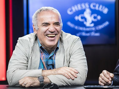 Garry Kasparov at the Saint Louis Rapid and Blitz event. Lennart Ootes