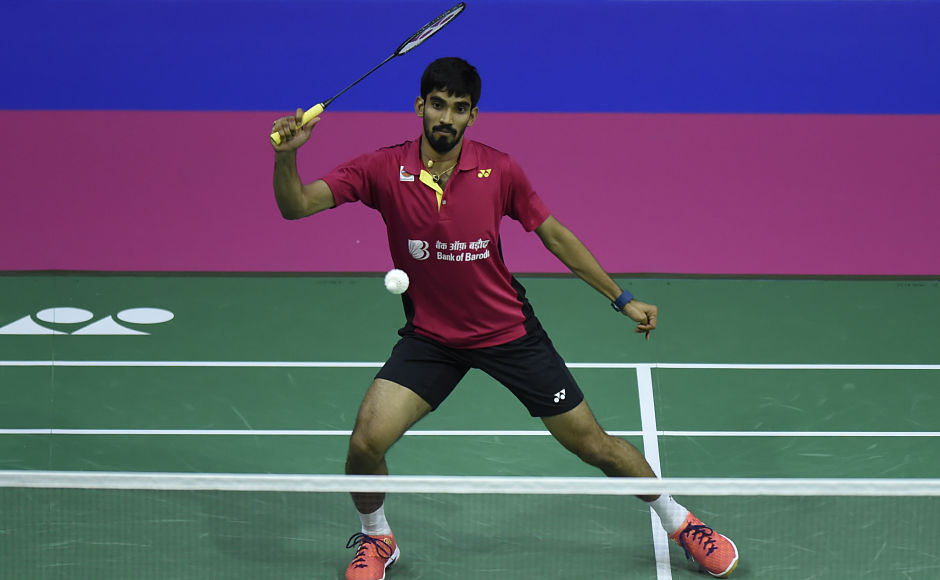 India's Kidambi Srikanth returns against France's Lucas Corvee during their round two men's singles match. Srikanth won the game in 32 minutes. AFP