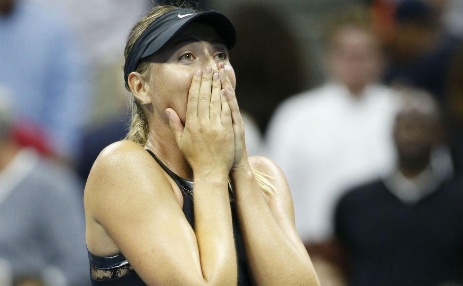 Maria Sharapova made an impressive return to Grand Slam tennis, beating 2nd seed Simona Halep 6-4, 4-6, 6-3 in the first round of the US Open. AP