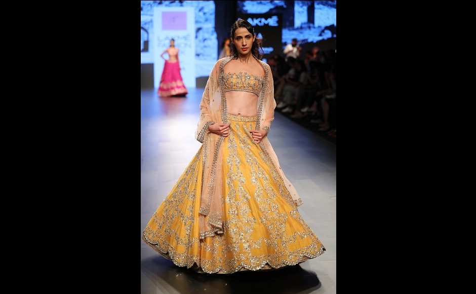 The design included a range of dresses for nearly every occasion until the main-wedding day.