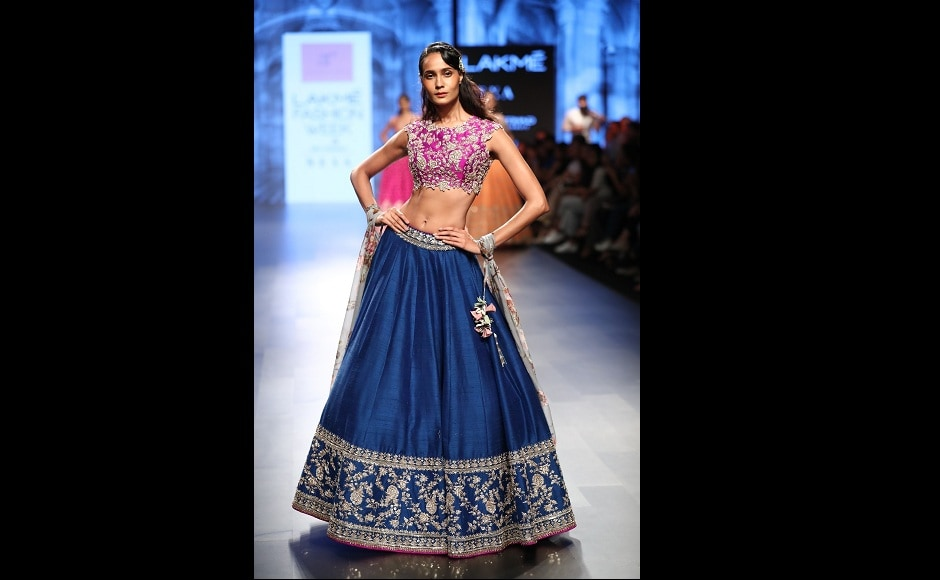 Hand embroidery, traditionalzardozi designs formed an essential part of Reddy's collection thisyear.