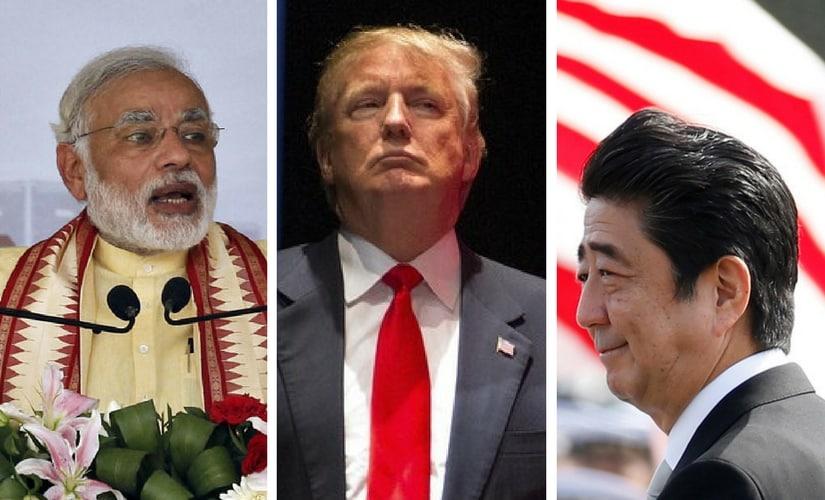 File image of Narendra Modi. US president Donald Trump and Japan prime minister Shinzo Abe. Reuters