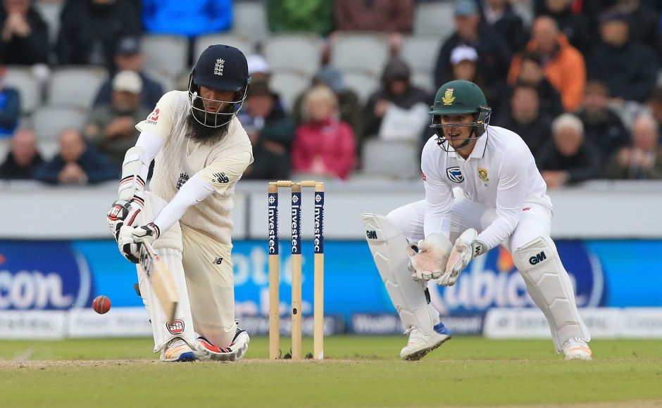 England wobbled in the second innings but Moeen Ali scored a blistering half century to help the hosts reach 224/8 at stumps on Day 3 of the fourth test at Old Trafford. AFP
