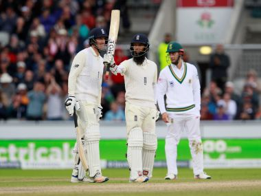 Cricket - England vs South Africa - Fourth Test - Manchester, Britain - August 6, 2017 England's Moeen Ali celebrates a half century Action Images via Reuters/Jason Cairnduff - RTS1AMM6