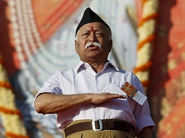 File image of RSS chief Mohan Bhagwat. Reuters