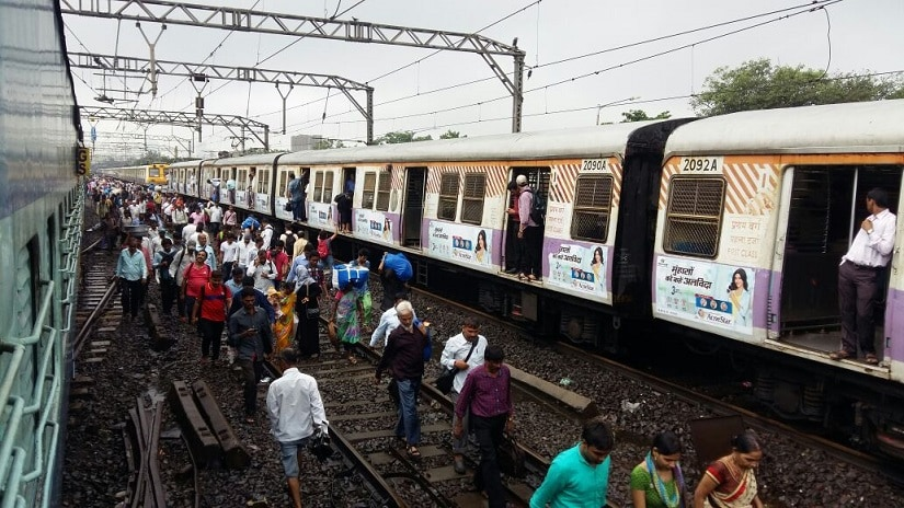 Mumbai rains: Crawling local trains, lack of buses make journey home difficult a day after heavy downpour