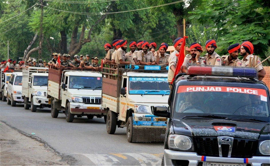 More than 100 companies of the Rapid Action Force and the Sashastra Seema Bal have been deployed across Haryana and Punjab as the states await the CBI court's verdict in a case against Dera Sacha Sauda chief Gurmeet Ram Rahim Singh, who has been accused of raping two women at his ashram. PTI