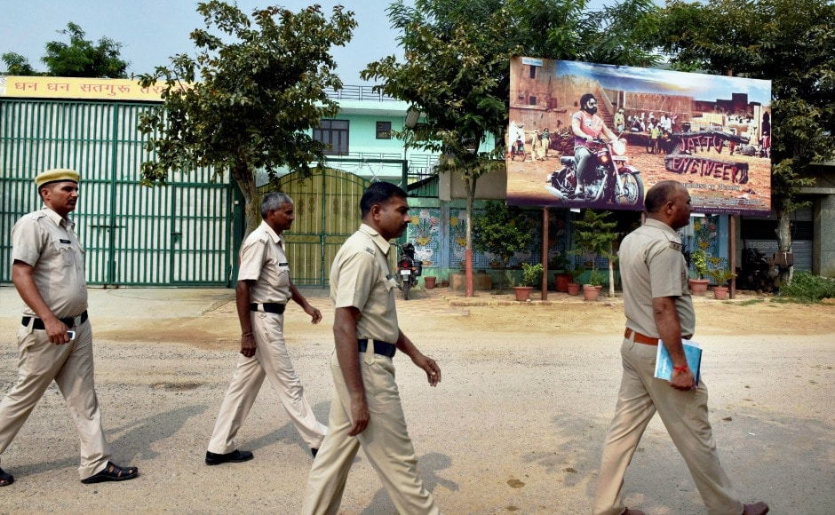 Adequate number of police personnel have been deployed in different parts of Gurugram to deal with any situation that may arise after the court's verdict in the rape case. PTI