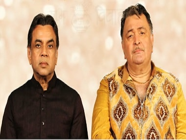 Paresh Rawal and Rishi Kapoor in Patel Ki Punjabi Shaadi teaser. Screen grab from Twitter