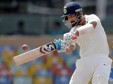 Cheteshwar Pujara remained unbeaten on 47 off 102 deliveries at stumps on Day 2. AP