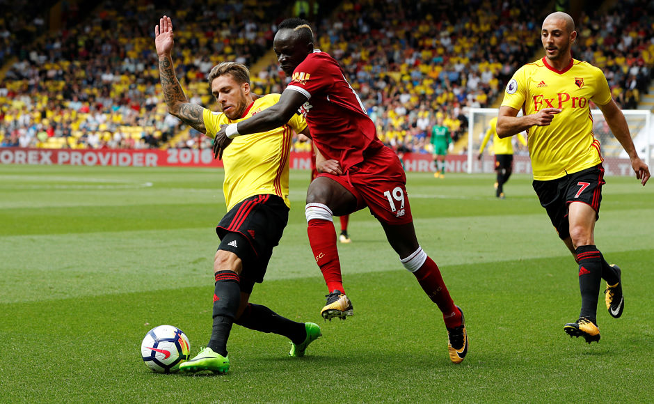 It didn't take long for Liverpool to bounce back as Sadio Mane equalised for them in the 29th minute of the match. Reuters
