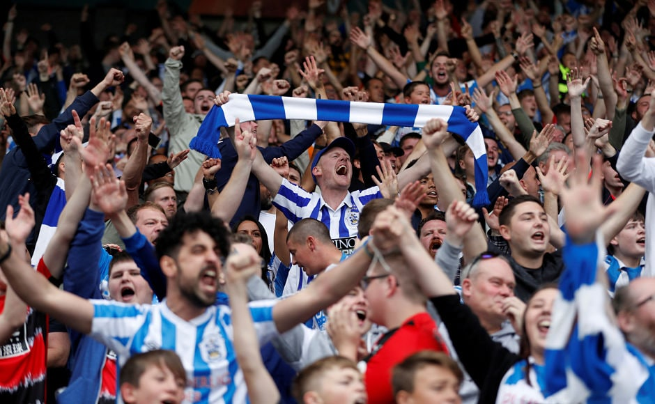 The John Smith's stadium in West Yorkshire was filled with ecstatic Huddersfield Town fans who enjoyed the club's first victory in top-flight football in 45 years. Reuters