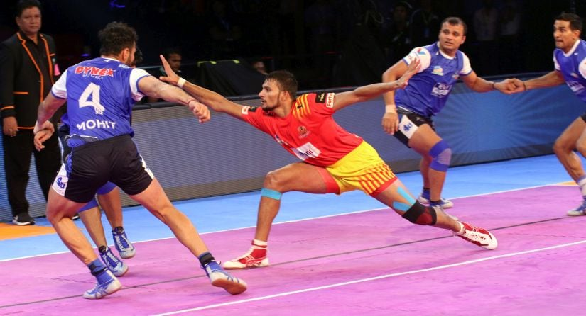 Gujarat Fortunegiants' Sachin has impressed in the Pro Kabaddi League so far. PKL
