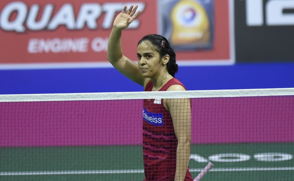Saina Nehwal, the 2015 runner-up, knocked out local hope Kirsty Gilmour 21-19, 18-21, 21-15 after 74 minutes in the World Championships at Glasgow. AFP