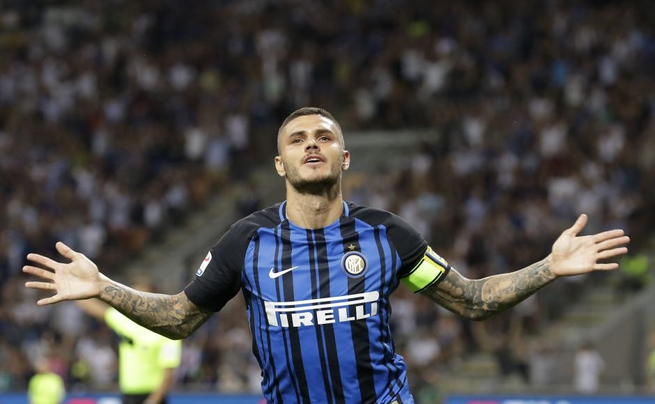 Inter Milan took the lead in the sixth minute when Mauro Icardi won and converted a penalty. The referee used the VAR to rule that Davide Astori had fouled the Argentine. AP