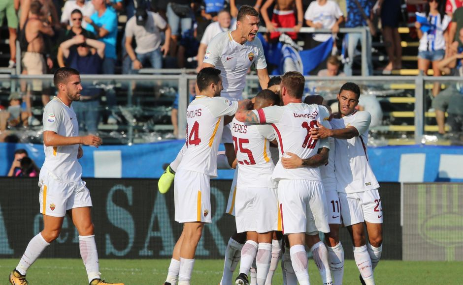 AS Roma's new era without Francesco Totti got off to a winning start with a 1-0 victory at Atalanta. AP