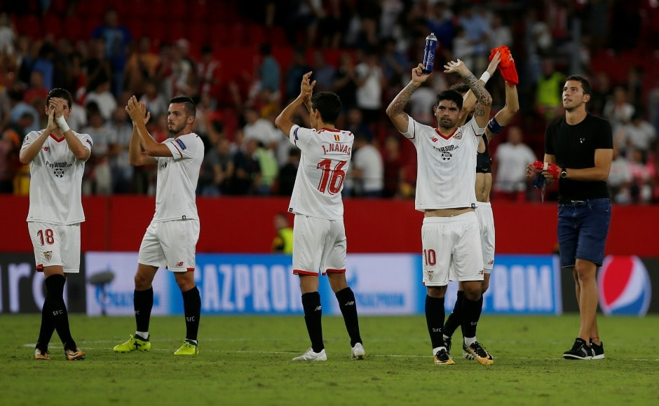 Sevilla survived second leg surge of the Turkish side as the match ended in a 2-2 draw. Sevilla booked their berth in Champions League group-stage on aggregate(4-3). Reuters