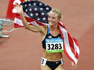 Shalane Flanagan was awarded her silver medal for 2008 Olympics after Elvan Abeylegesse doping ban. Image Courtesy: Twitter @runnersworld