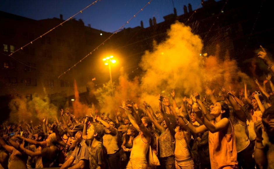 Holi celebrations have become popular among the non-Hindu population as events are being organised in many European cities. AP