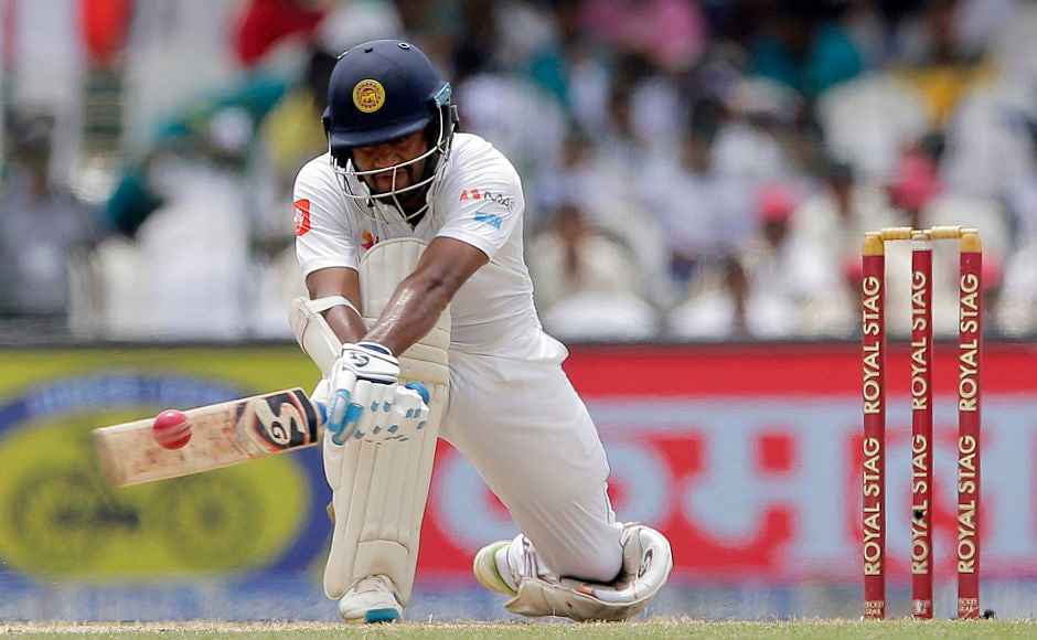 Sri Lankan opener Dimuth Karunaratne provided able support to Kusal Mendis for the 2nd wicket. He used the reverse sweeps to good effect in his unbeaten innings of 92. AP