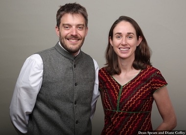 File image of American scholars Dean Spears and Diane Coffey, co-founders of the Research Institute for Compassionate Economics. Indiaspend website.