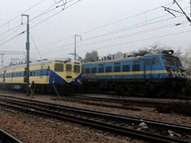 Local train derails in New Delhi after a wheel comes off; no injuries reported