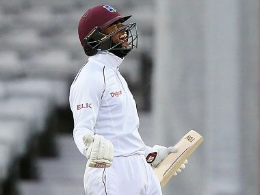 Windies batsman Shai Hope hit a century in both the innings of the 2nd Test against England. Image courtesy: Twitter @westindies