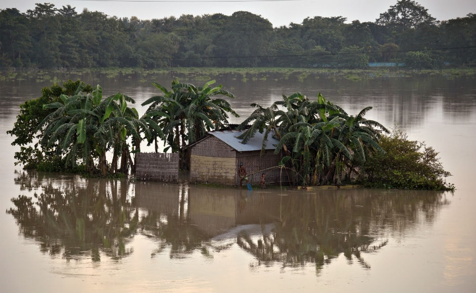 Lakhs of people were marooned in several inundated regions of Bihar and Assam, even as heavy rains in other parts of the country flooded streets, choked traffic and hit normal life. Reuters
