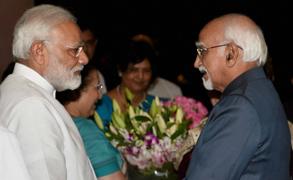 Senior BJP leader and former Union minister M Venkaiah Naidu is pitted against united opposition nominee Gopalkrishna Gandhi for the election to the office of the next Vice-President, which will be held on 5 August. PTI