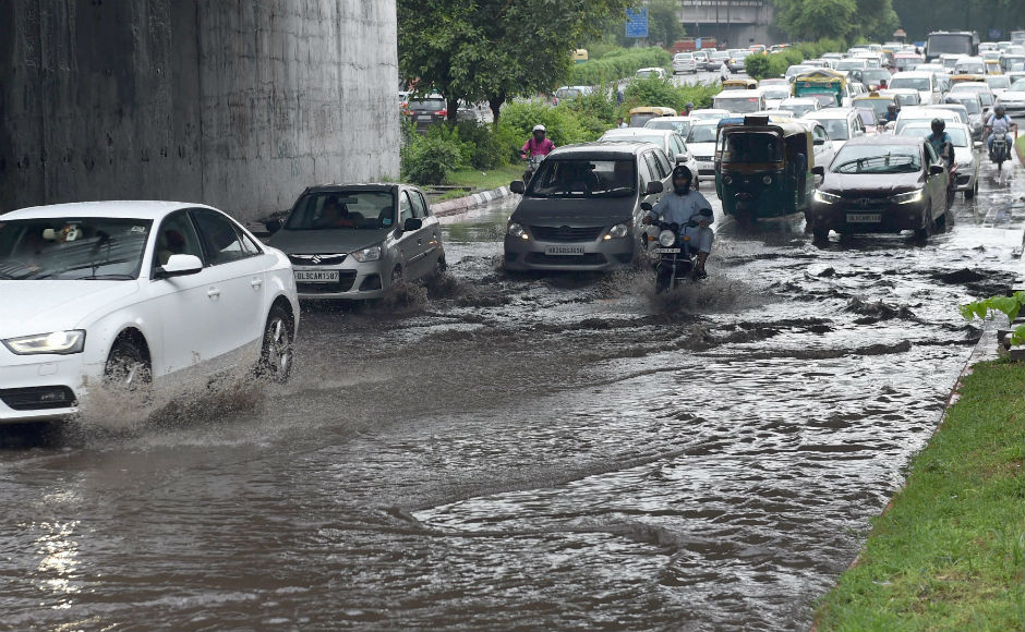 In Delhi, strong showers lashed parts of capital and adjoining areas waterlogging areas like Lajpat Nagar, Dhaula Kuan, Ashram, Munirka and Geeta colony. PTI