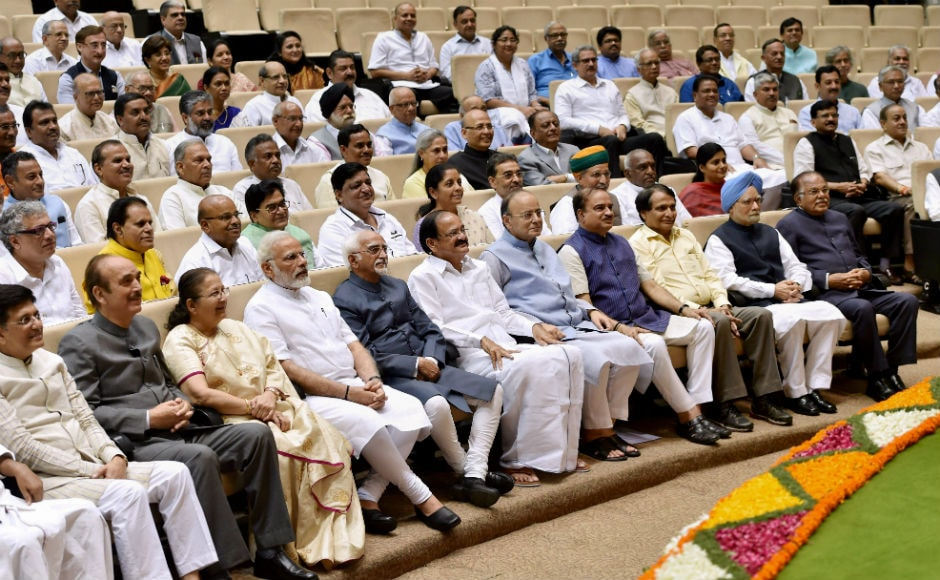 Narendra Modi praised Hamid Ansari by saying that he had done his best to uphold the Constitution. Modi also said that,