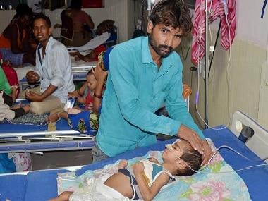 A ward in the Gorakhpur hospital. PTI