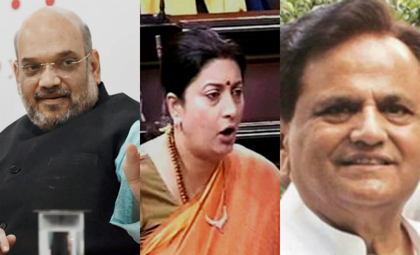 Amit Shah, Smriti Irani, and Ahmed Patel. Agencies