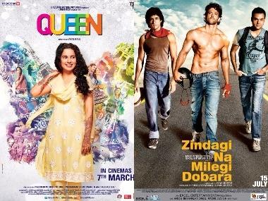 Queen-Zindagi Na Milegi Dobara posters.