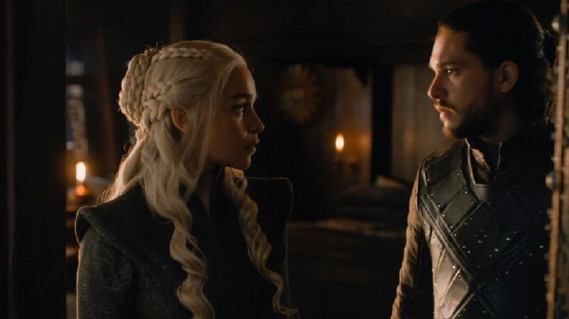 Dany and Jon. Still from Game of Thrones season 7. Image via HBO