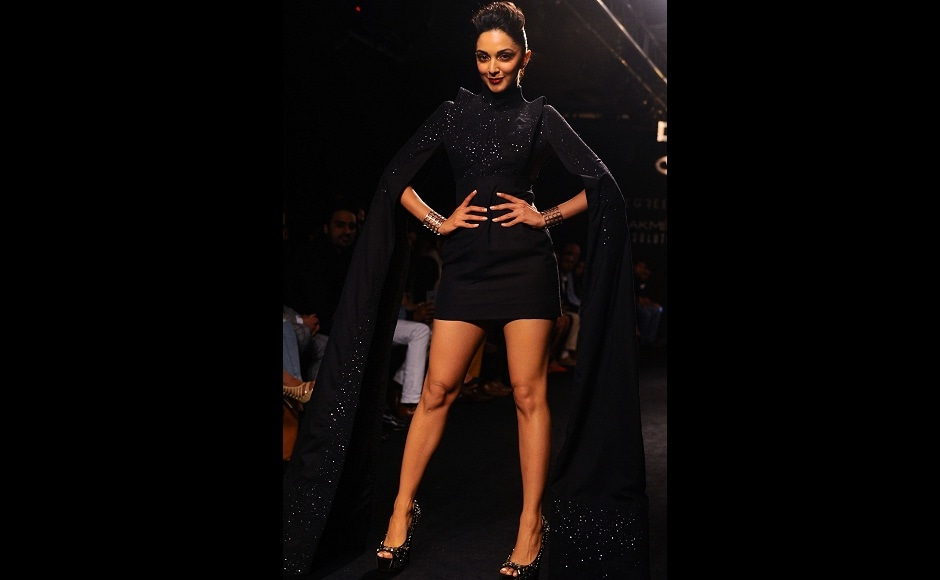 Kiara Advani walked for Hardika Gulati and lent the collection the right amount of oomph and attitude. Image from AFP.