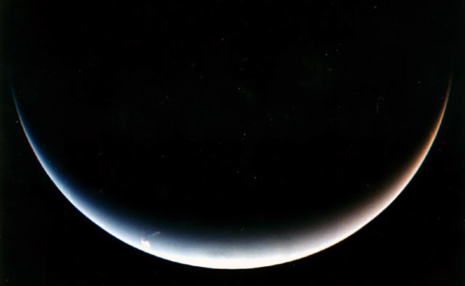 Dawn on Neptune. The Voyager-2 is the only spacecraft to have visited the ice giant. Image: NASA.