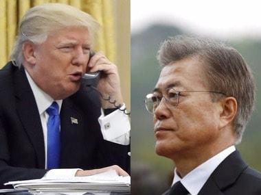 Donald Trump and Moon Jae-In. Firstpost