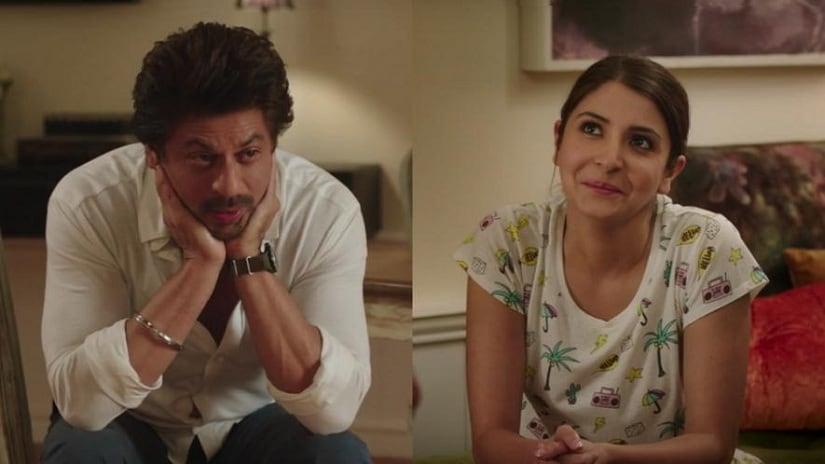 Shah Rukh Khan and Anushka Sharma in Jab Harry Met Sejal. Screen grab from YouTube.