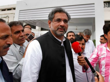 Shahid Khaqan Abbasi says action against Hafiz Saeed not taken since there's no case against him in Pakistan