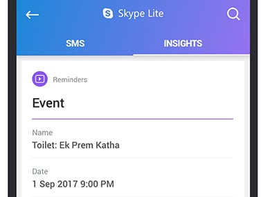 Microsoft helps you be more productive with SMS Insights for Skype Lite users in India