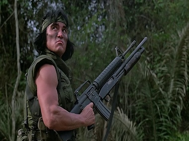 Sonny Landham in a still from Predator. Twitter