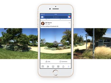Facebook now allows you to capture 360 degree photos on its mobile app