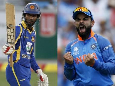 Sri Lankan captain Upul Tharanga (L) and his Indian counterpart Virat Kohli. Reuters