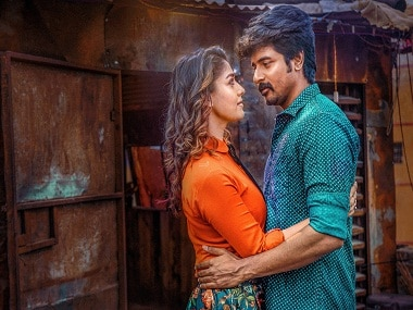 Nayantara and Sivakarthikeyan in a still from Velaikkaran. YouTube